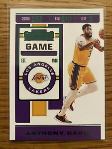 2019-20-Panini-Contenders-Anthony-Davis-7-Los-Angeles-Lakers-GREEN-GAME-TICKET