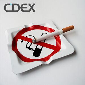 Aschenbecher-No-Smoking-Ashtray-Rauch-Verboten-Schild-Aschenhalter