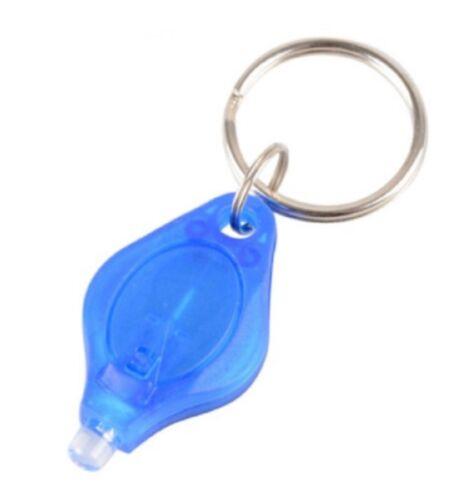 Hell Weiß oder UV Lampe Led Fackel Schlüsselring Taschenlampe