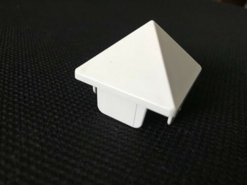 "Picket Caps PVC Vinyl Fence Pyramid Point  for 1-1//2/"" x 1-1//2/"" picket 12pc"
