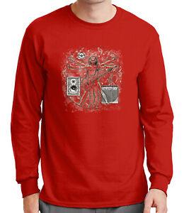 Davinci-Music-Mens-Long-Sleeve-Tshirt-Leonardo-Da-Vinci-Guitar-Funny-Tee-1355C