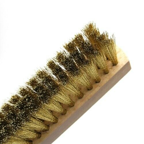 TB144 Jewellers Wooden Handled Brass Brush 4 Row Cleaning Surfaces Soldering