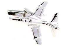 Plane Cufflinks Jet Pilot Flying Airplane Wedding Fancy Gift Box Free Ship USA