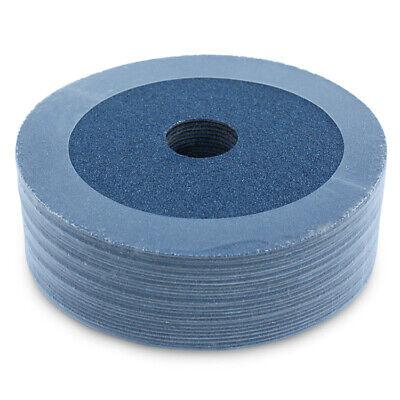 """100 Pack 5/"""" Zirconia Resin Fiber Disc 80 Grit 5 inch Grinding /& Sanding Discs"""