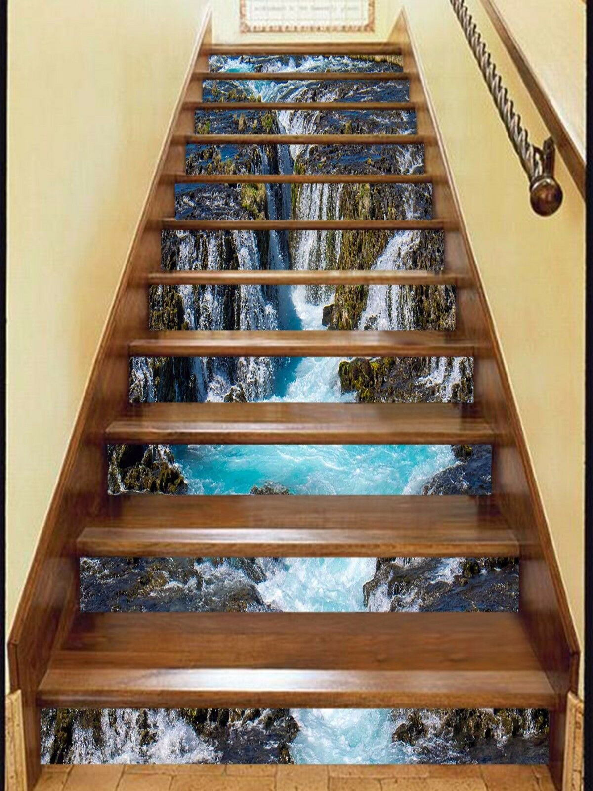 3D Landscape 68 Stair Risers Decoration Photo Mural Vinyl Decal Wallpaper UK
