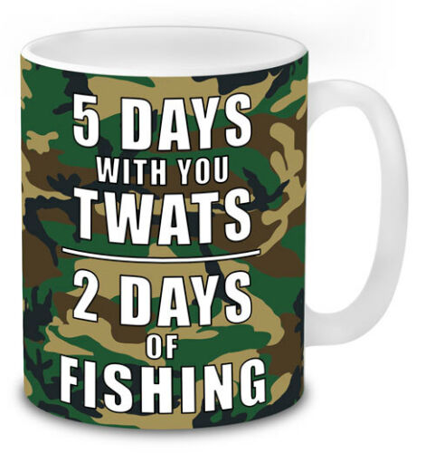 5 Days with You Twats, 2 Days of Fishing Mug