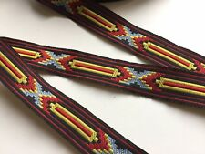 Traumschöne Borte,Indianer,Schwarz,Rot,Hellblau,Gelb,20mm,5 Meter !