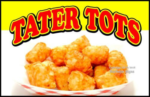Tater Tots DECAL Concession Food Truck Vinyl Sign Sticker Choose Your Size