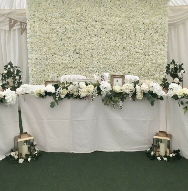 blanc Flower Wall for Hire