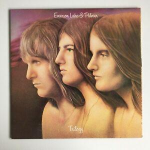EMERSON-LAKE-amp-PALMER-Trilogy-LP-Vinyl-1972-UK-press-gatefold-sleeve-EX-EX