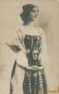 Lina-Cavalieri-Real-Photo-Postcard-rppc-Italian-Soprano-Who-Sang-With-Caruso