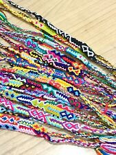 FRIENDSHIP BRACELETS Nylon Wholesale Bulk 50 Woven FAIR TRADE GIFTS UK Stock.