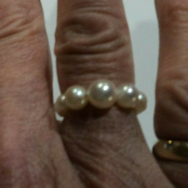 Flexible Pearl Ring Made From Mikimoto Broken Strand-ANY size by Order COMFY