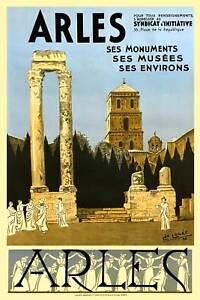 Vintage Art Deco Travel Poster Brighton Promenade 1920s Flapper Seaside French