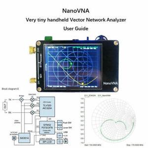 50KHz-900MHz-NanoVNA-Vector-Network-Analyzer-Antenna-HF-VHF-UHF-2-8-034-TFT-Screen