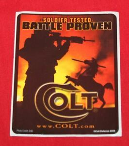 COLT-Firearms-Factory-Soldier-Tested-Battle-Proven-Decal-Sticker