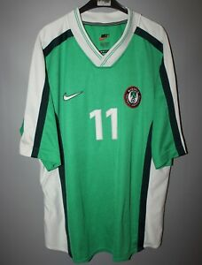 cheap for discount ac4bb f0a9a Details about NIGERIA NATIONAL TEAM 1998 MATCH WORN FOOTBALL SHIRT JERSEY  #11 LAWAL