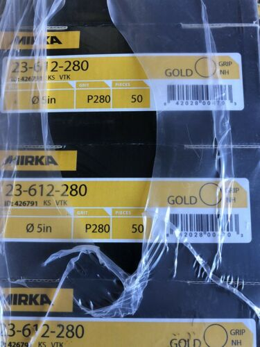 "Mirka 23-612-280 Gold 5/"" Grip Sanding Discs 280 Grit 50//Pack"