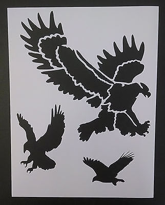 Bird Stencils for face painting DIY and air brushing Owl Crow Eagle crafts
