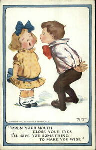 Charles-Twelvetrees-Boy-Tries-to-Kiss-Little-Girl-c1910-Postcard