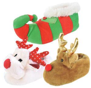 Fougueux Girls Boys Novelty 3d Elno à Tous Pantoufles Reindeer Onze Plush Christmas Booties Poison-afficher Le Titre D'origine Fixation Des Prix En Fonction De La Qualité Des Produits