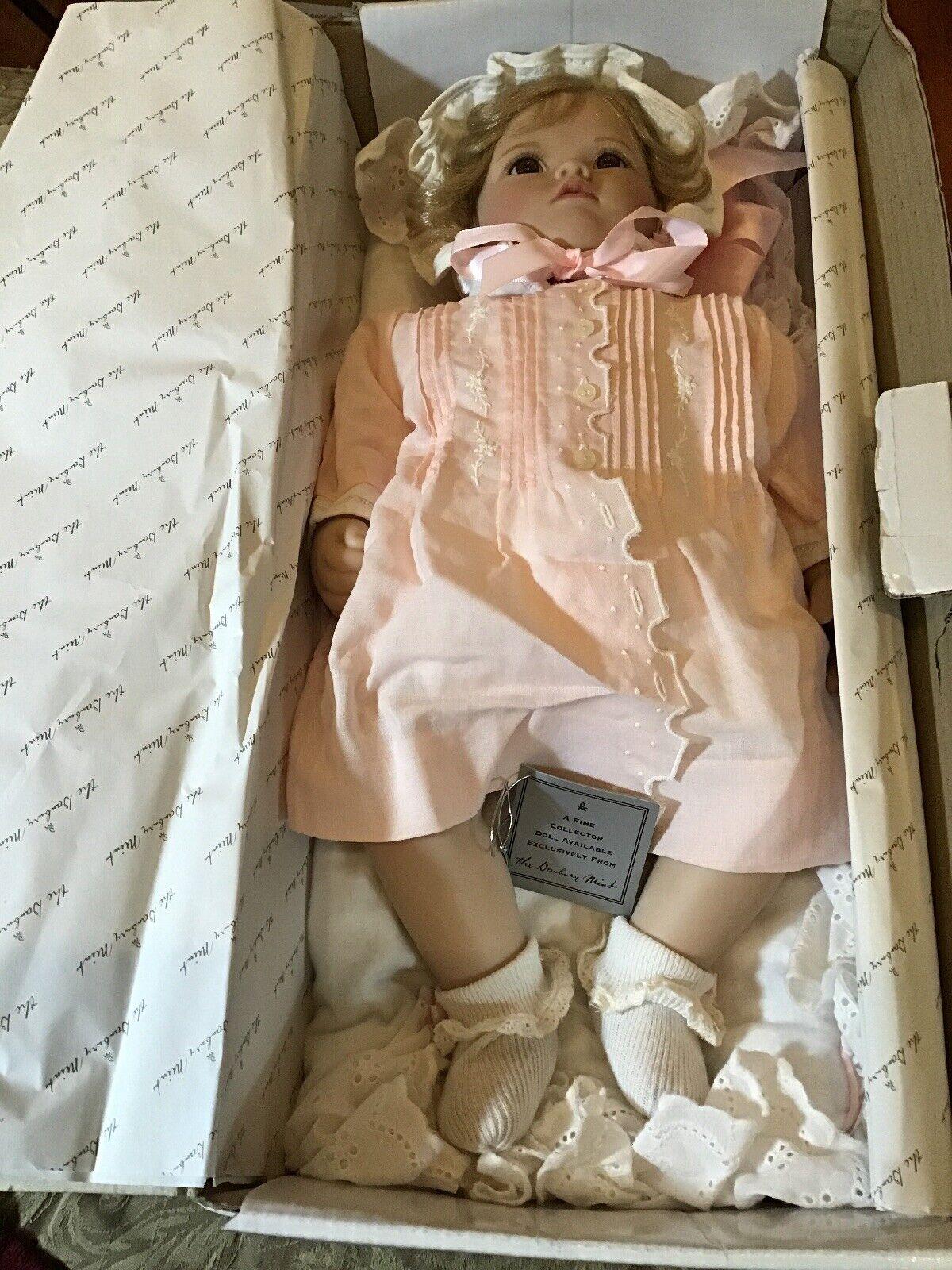 Danbury Mint - Baby Shirley Doll- Elke Hutchens - Plastic Doll - MIB