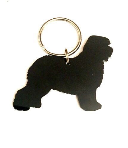 Old English Sheepdog Dulux Dog Keyring Keychain Lanyard Bag Charm Gift In Black