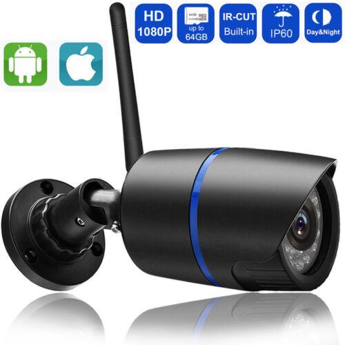 HD 1080P Wifi IP Wireless P2P IR Bullet Surveillance Camera With SD Card Slot