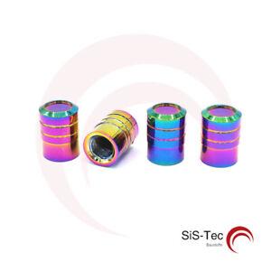4-Piece-Valve-Multicolore-Cylindre-Aluminium-avec-Joint-pour-Voiture-Moto-Velo