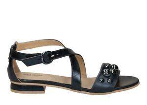 Sandali-scarpe-da-donna-basso-Nero-Giardini-P805812D-con-cinturino-taglia-36