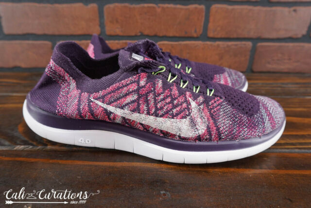 85a24da0dad39 VGC! Nike Free 4.0 Flyknit Womens Size 7 Running Shoes Purple 717076-502