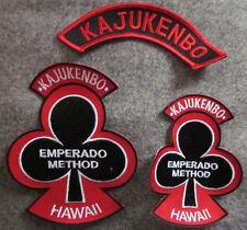 LOT OF 3 KAJUKENBO HAWAII MARTIAL ARTS PATCHES - BLACK BACKGROUND