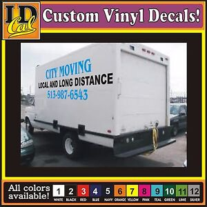 image is loading custom vinyl truck lettering large box van trailer