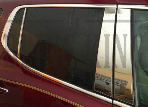 2017-2018 GMC Acadia chrome 6pc pillar post trim polished stainless steel