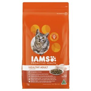 IAMS Healthy Adult Original Dry Cat Food With Chicken 1kg