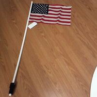 American Flag For Golf Cart -no Brackets Or Clamps Needed