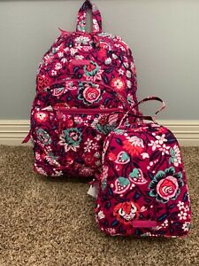 Vera-Bradley-Bloom-Berry-Essential-Backpack-amp-Lunch-Bunch-with-Tags