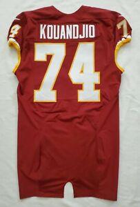 #74 Arie Kouandjio of Washington Redskins NFL Locker Room Game Issued Jersey