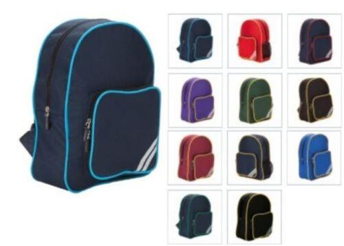 Childrens Junior Rucksack Kids Nursery Plain School Sports Backpack Bag