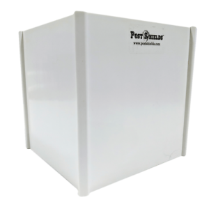 """Post Shields White 6/"""" L x 6/"""" W x 6/"""" H Mailbox /& Fence Sleeve Trimmer Protetector"""