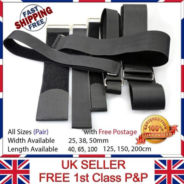 2x Cinghie Regolabili Velcro Valigie Qualità 25,38,50mm (lung.) 40-200cm (larg.)