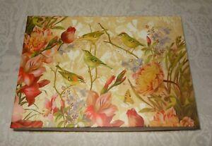 Punch-Studio-Gold-Foil-Natures-Birds-Gift-Keepsake-Nesting-Box-NEW-FREE-SHIPPING