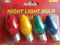Color Night Light Bulbs [7 Watts] //(4 Bulbs // 8 Bulbs // 12 Bulbs // 24 Bulbs)