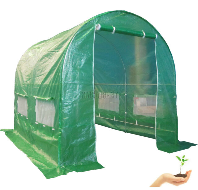 Galvanised Steel Frame Polytunnel Greenhouse Pollytunnel Poly Tunnel 2.5m x 2m