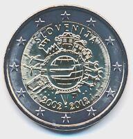 Slowenien 2 € Gedenkmünze 2012 10 Jahre Euro-Bargeld unz.-bankfrisch