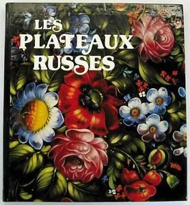 RUSSIAN PALEKH salver plate tray Art Book Photo Album plateaux Russes Francais