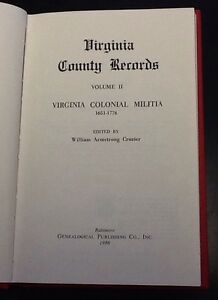 Virginia-Colonial-Militia-1651-1776-edited-by-William-Crozier-1986-Hardcover