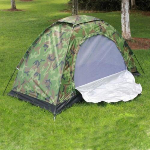 Camo Ultra-light Tent Single Outdoor Hiking Travelling Fishing Camping Tent