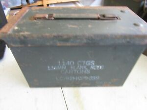 Details about Vintage Military Ammunition Box for 1140 CTG's, 5 5mm blank,  M200 Cartons