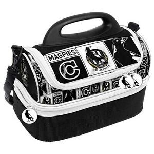 AFL-Lunch-Cooler-Bag-Box-Collingwood-Magpies-Aussie-Rules-Football-BNWT